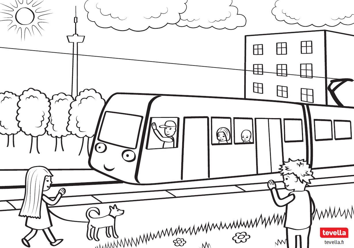 Ratikkavärityskuva - iloista ratikkamatkaa Tampereella!